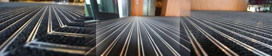 алюминиевая грязезащитная решетка статус 20 мм