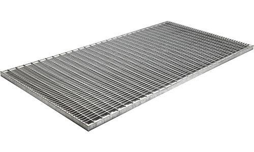 Придверная стальная оцинкованная ячеистая грязезащитная решетка для входных групп и порталов