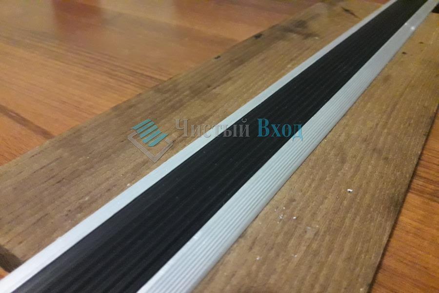алюминиевый стык с резиновой вставкой
