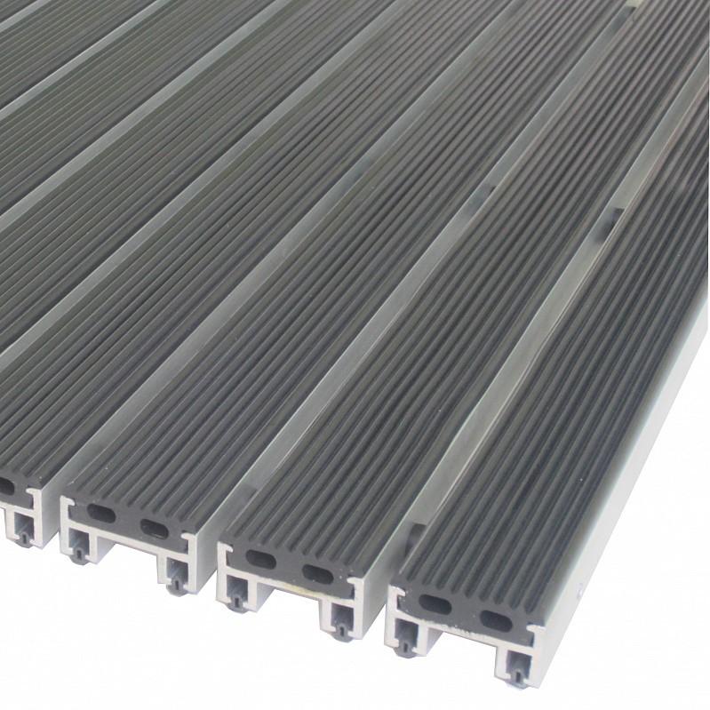 Грязезащитная алюминиевая решетка Статус 20мм - резина