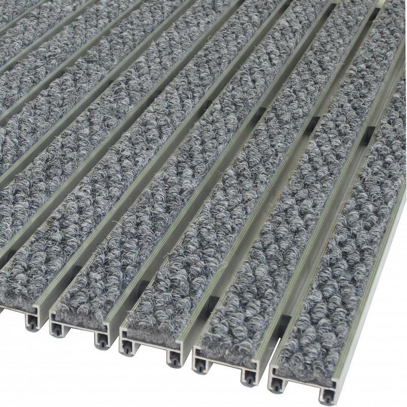 Грязезащитная алюминиевая решетка Статус 20мм - текстиль