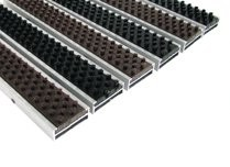 Грязезащитная алюминиевая решетка Mini Plus 15мм - щетка