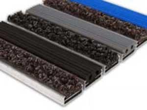 Грязезащитная алюминиевая решетка Mini Plus 16мм - резина + текстиль