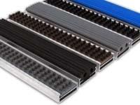 Грязезащитная алюминиевая решетка «Mini Plus 16мм - резина+щетка»