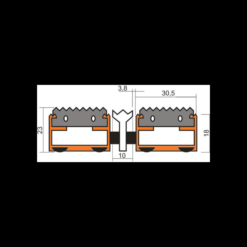 Грязезащитная решетка Сити - резина + скребок