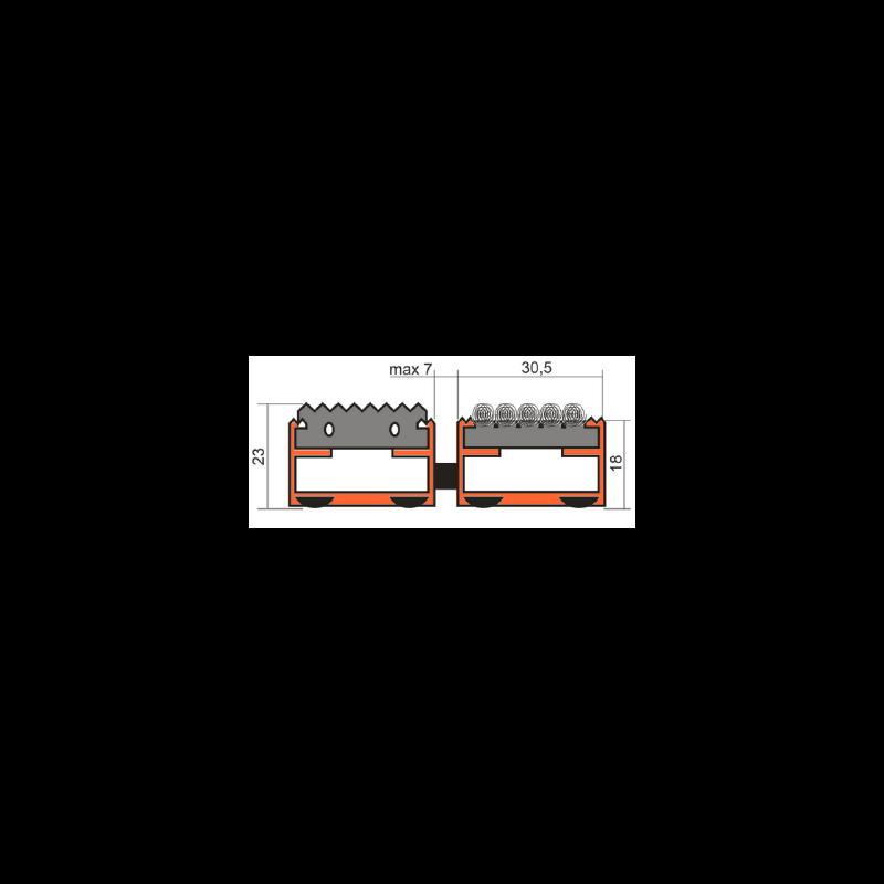 Грязезащитная решетка Сити - резина + текстиль