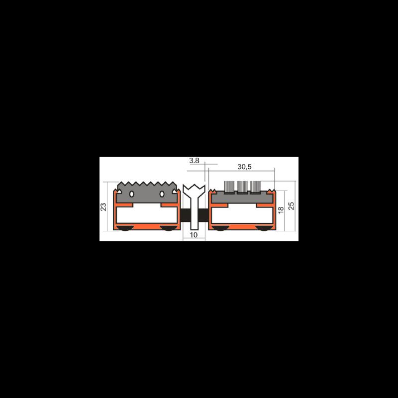 Грязезащитная решетка Сити - резина + щетка + скребок