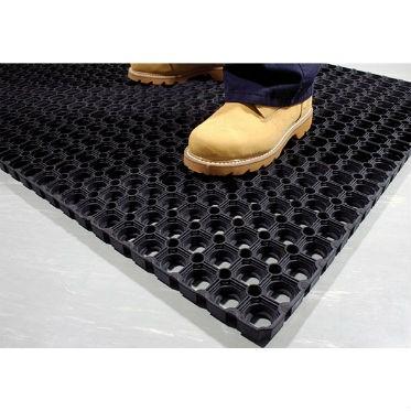 Грязезащитный резиновый ячеистый коврик 16 мм. 500х800 мм.