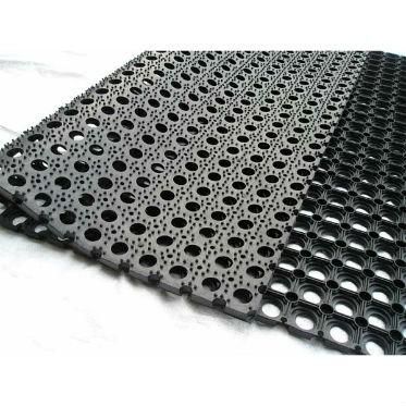 Грязезащитный резиновый ячеистый коврик 16 мм. 500х800 мм. 1
