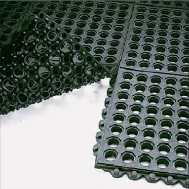 Ресторанный грязезащитный резиновый ячеистый коврик 12 мм. 900х900 мм. 1