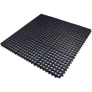 Ресторанный грязезащитный резиновый ячеистый коврик 12 мм. 900х900 мм. 2