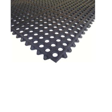 Ресторанный грязезащитный резиновый ячеистый коврик 12 мм. 900х900 мм. 3