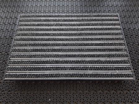 Придверная решетка алюминиевая 390х590мм текстиль и пластиковый поддон 400х600х65мм