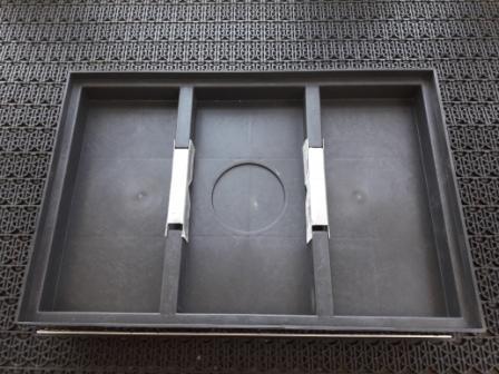 Придверная решетка алюминиевая 390х590мм щетка + текстиль и пластиковый поддон 400х600х65мм