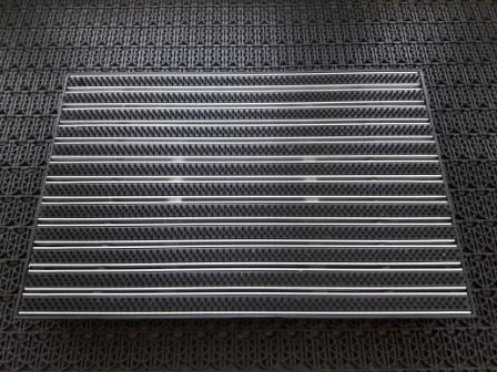 Придверная решетка алюминиевая 390х590мм щетка и пластиковый поддон 400х600х65мм
